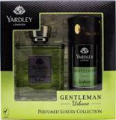 + VAT Brand New Yardley Gentleman Urbane 50ml edt.&150ml B/S