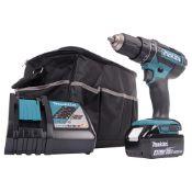 + VAT Brand New Makita 18v Li-ion Combi Drill With 4.0Ah Battery - Makita Charger - Makita Carry