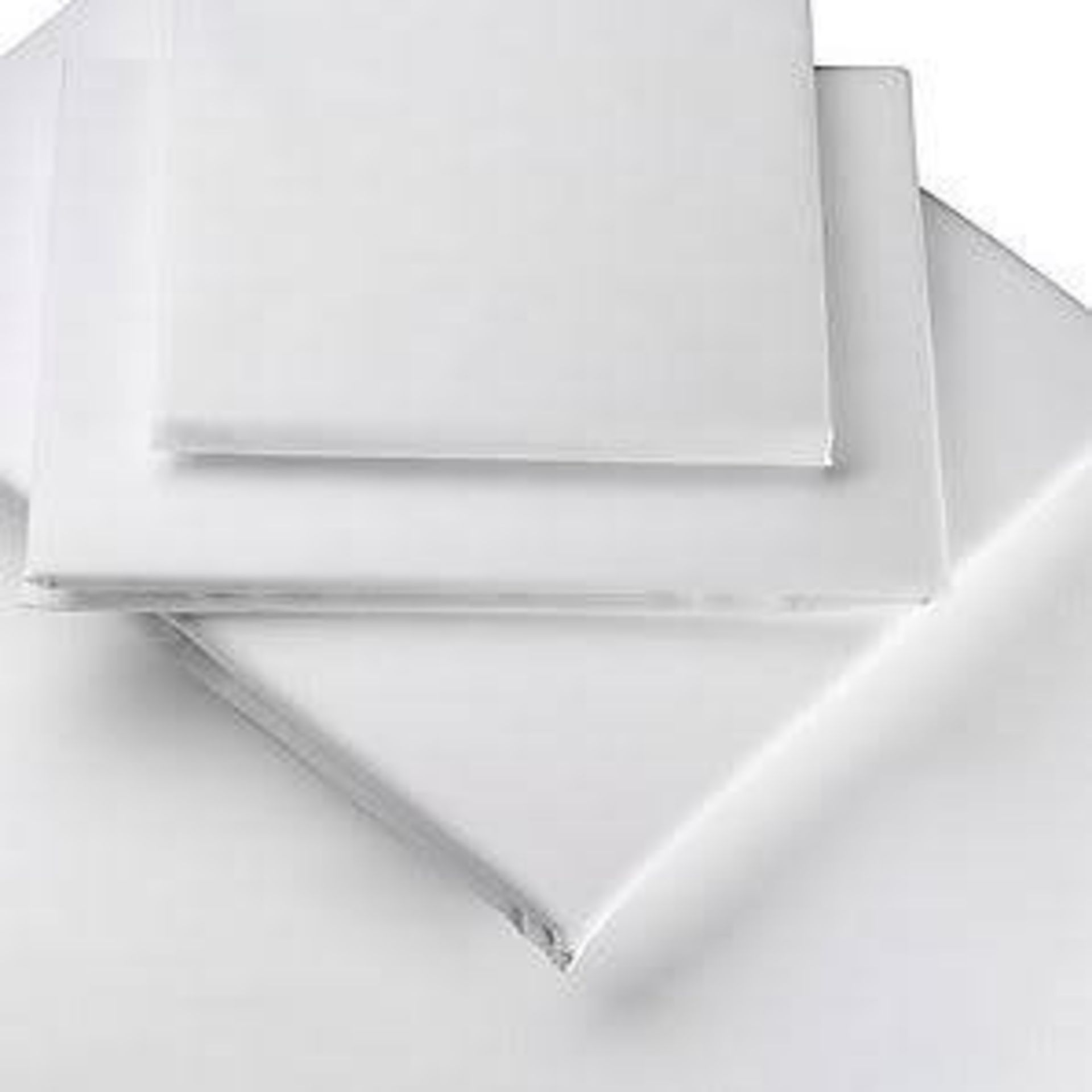 + VAT Grade A Luxury Egyptian Cotton Percale Double Bed Fitted Sheet Blue ISP £25.99 Homescapes (