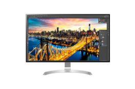 + VAT Grade A LG 32 Inch 4K ULTRA HD IPS LED MONITOR - 3840 X 2160P - HDMI, DISPLAY PORT, USB TYPE