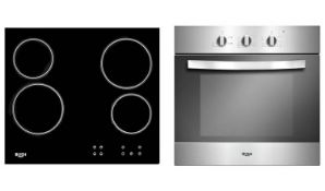 + VAT Grade A Bush LSBCHP Built In Electric Oven Ceramic Hob - 56 Litre Fan Oven - Ceramic Hob With