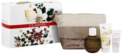+ VAT Brand New Clarins Eau Des Jardins 100ml EDT+B/C+B.Scrub