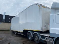 + VAT 2012 Don Bur Tri Axle Double Deck White Articulated Box Trailer With 10 Tonne Internal Lift (