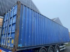 + VAT Blue 40ft HQ Shipping Container - Appears To Be Wind And Watertight - Trailer Not Included