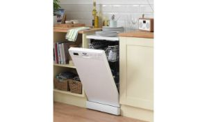 + VAT Grade A/B Bush BFSLNB9W Slimline Dishwasher - 30 Minute Quick Wash - Four Programmes - 10