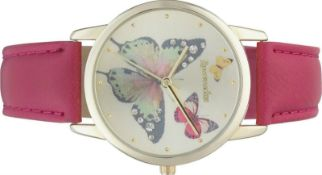 + VAT Brand New Ladies Accessorize Butterfly Dial Watch With Leather Strap - RRP £17.50