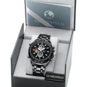 + VAT Brand New Globenfeld Sport Shark Grey Watch - Sony Battery - Stainless Steel Crown - High