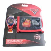 + VAT Brand New Disney Pixar Cars 3 Wallet & Watch Set