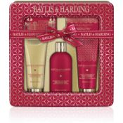 + VAT Brand New Baylis & Harding Midnight Fig & Pomegranite Ultimate Bathing Tin Gift Set Inc 300ml