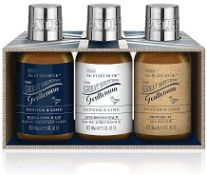+ VAT Brand New Baylis & Harding The Great British Gentleman Ginger & Lime Trio Set Inc Hair & Body