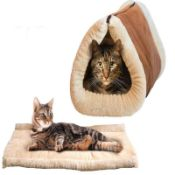 + VAT Brand New Amazing 2 in 1 Kitty Cabin - Tunnel Bed & Mat