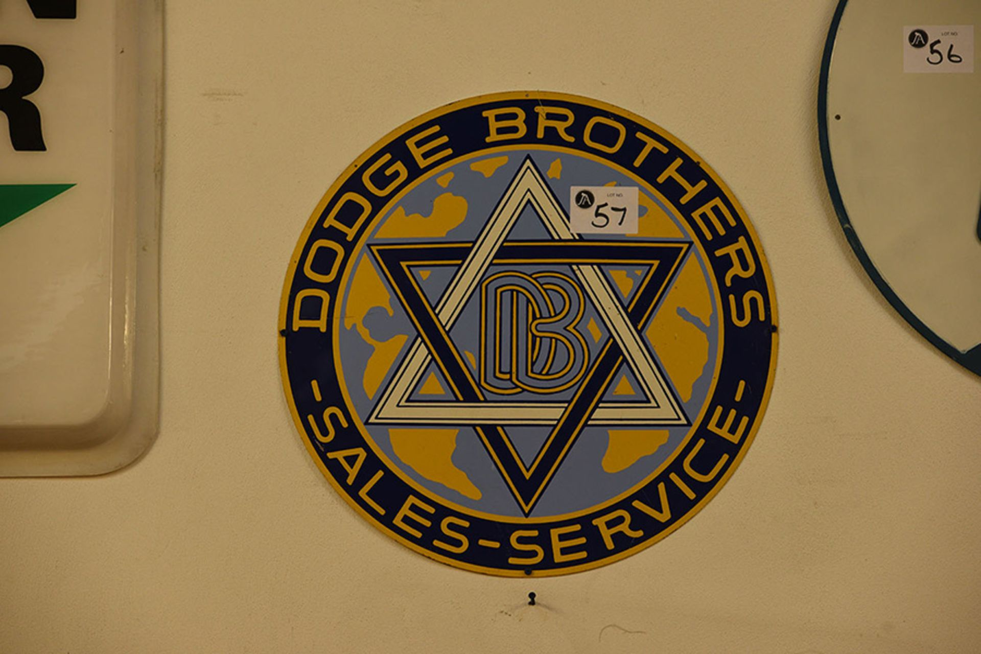 Lot 57 - Dodge Brothers Metal Wall Sign