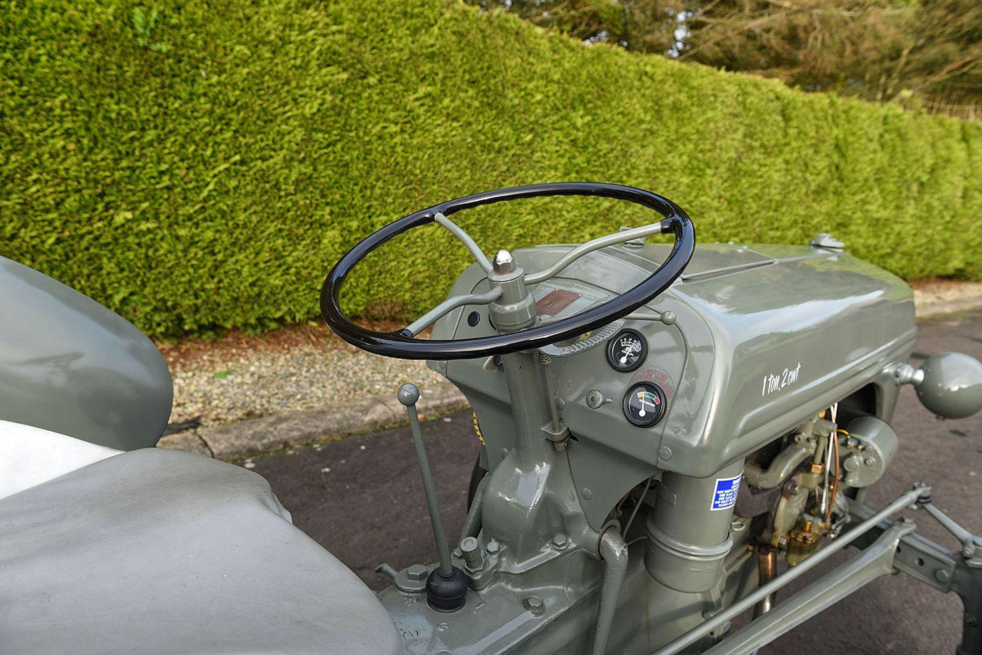 Lot 5 - BZ 8661 1943 Ford Ferguson tractor c/w a Ford 2 furrow plough