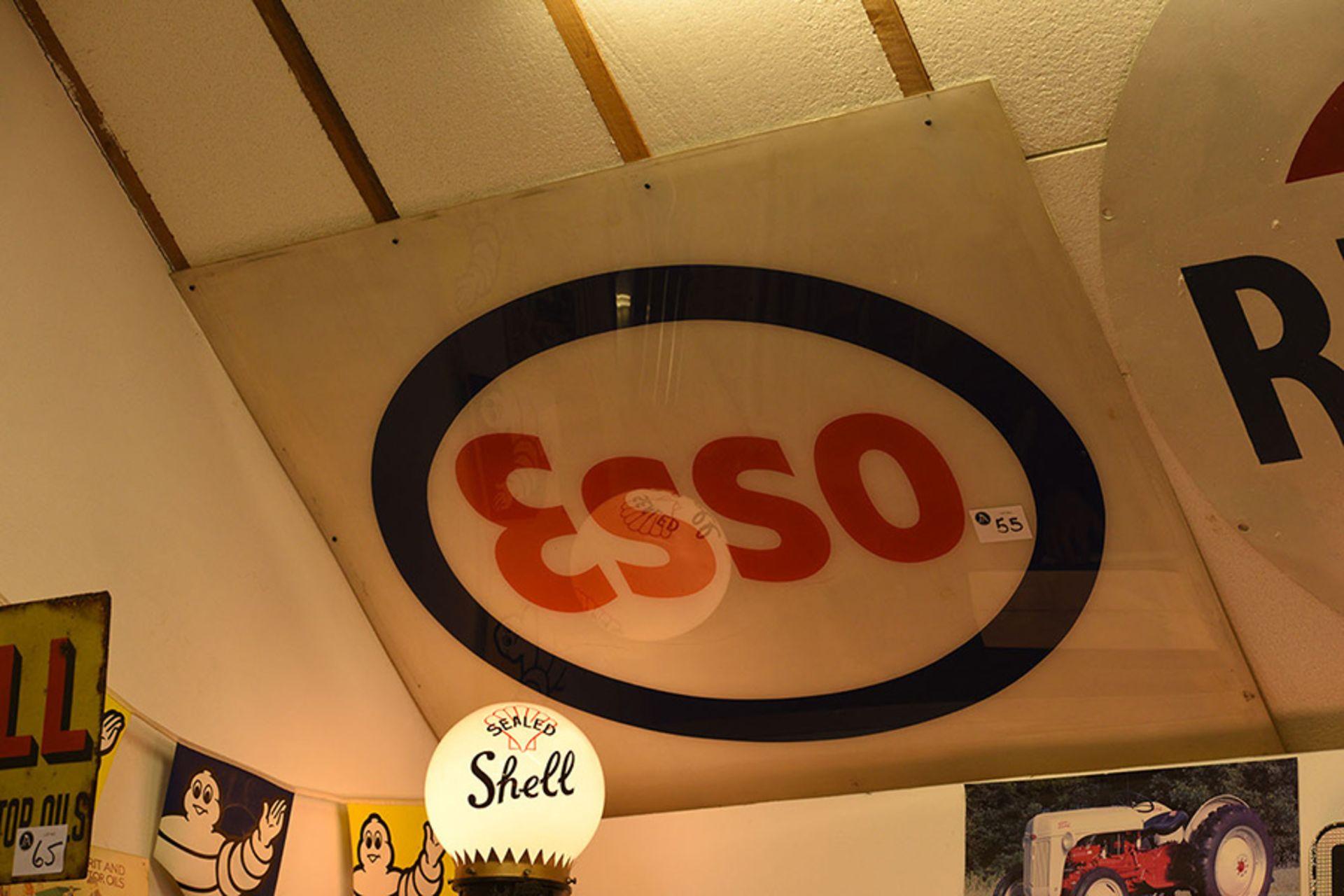 Lot 55 - ESSO Plastic Sign
