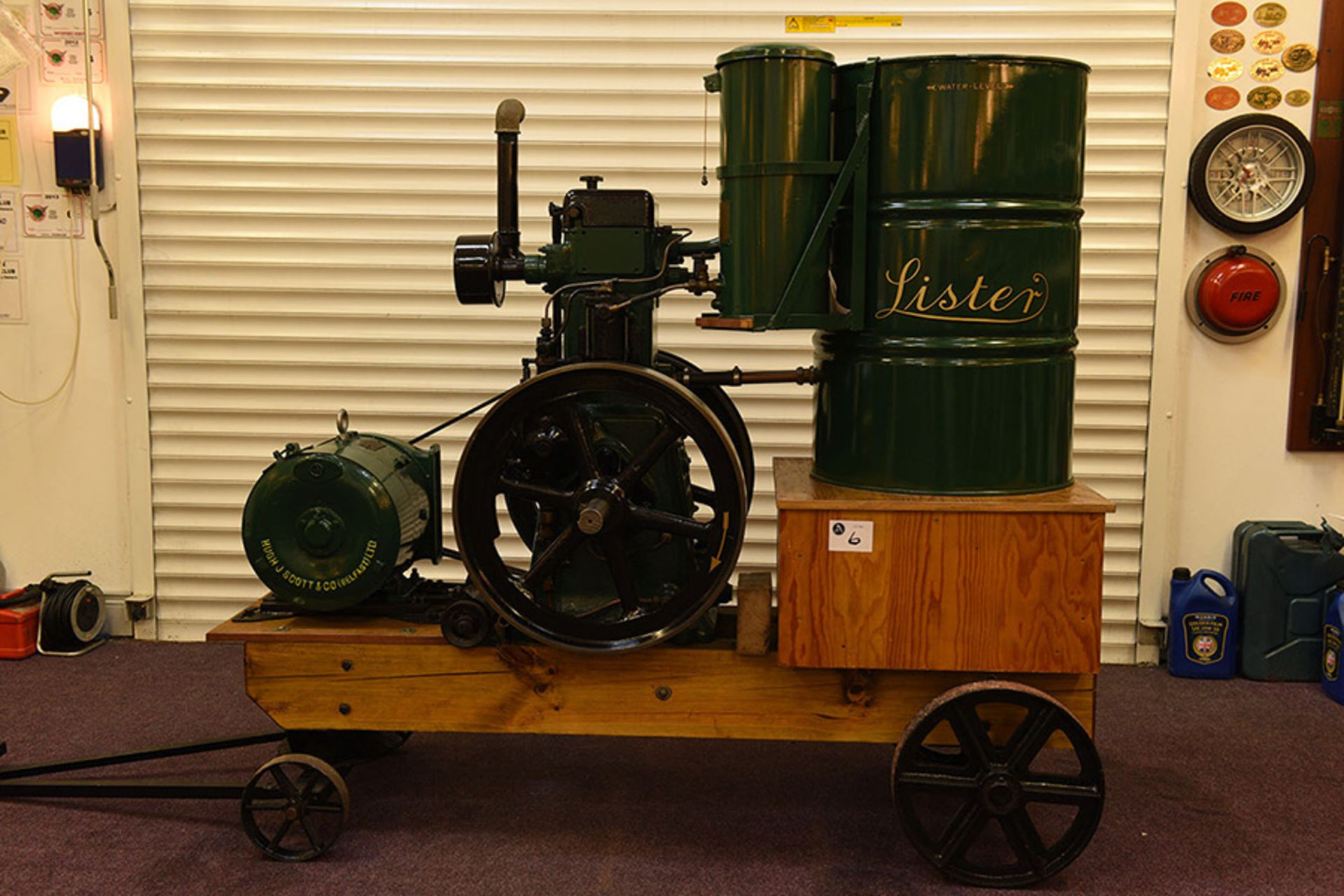 Lot 6 - 1940 Lister 5 HP water cooled diesel engined generator set ( fuel tank needs repaired )