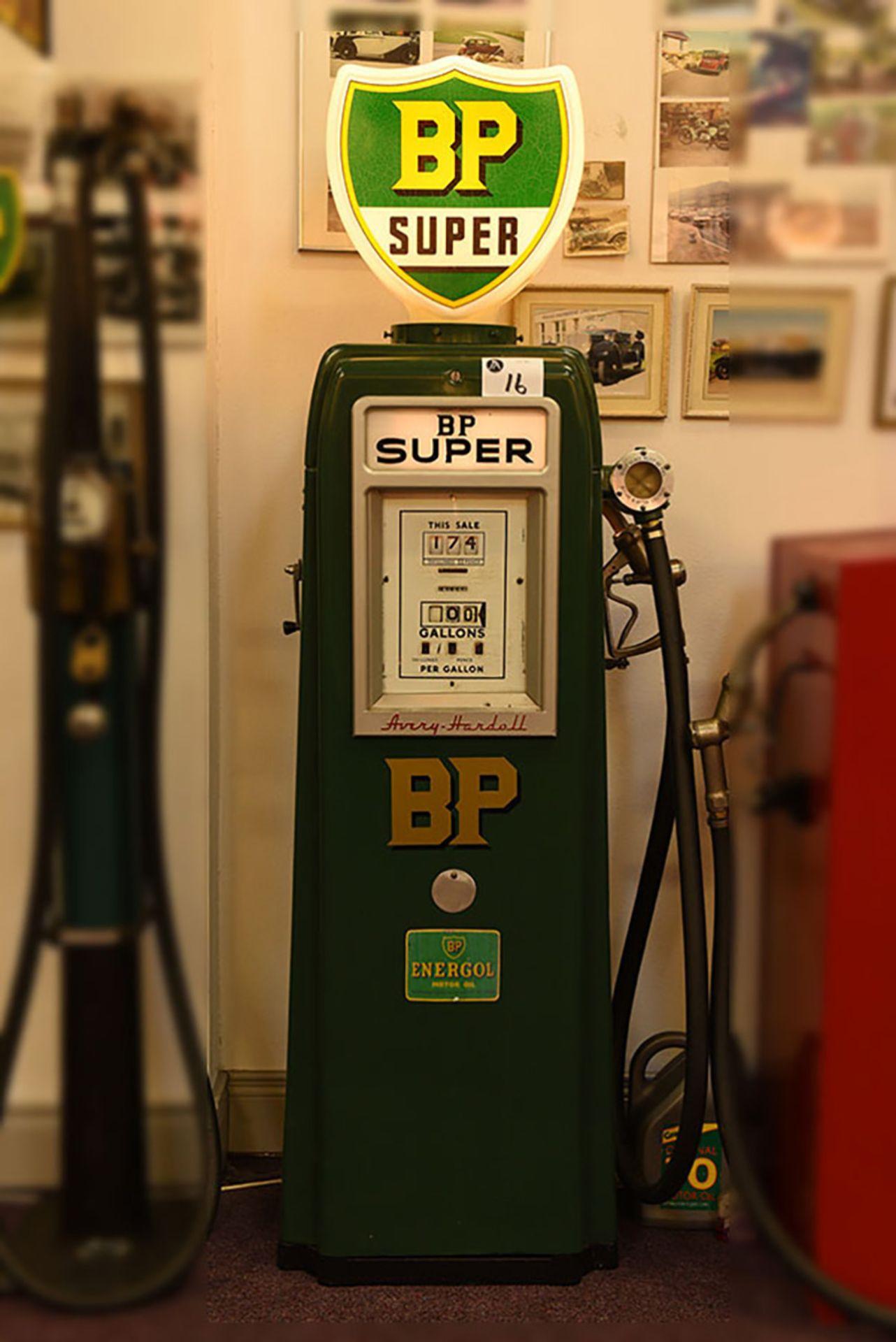 Lot 16 - BP Petrol pump c/w glass reproduction globe