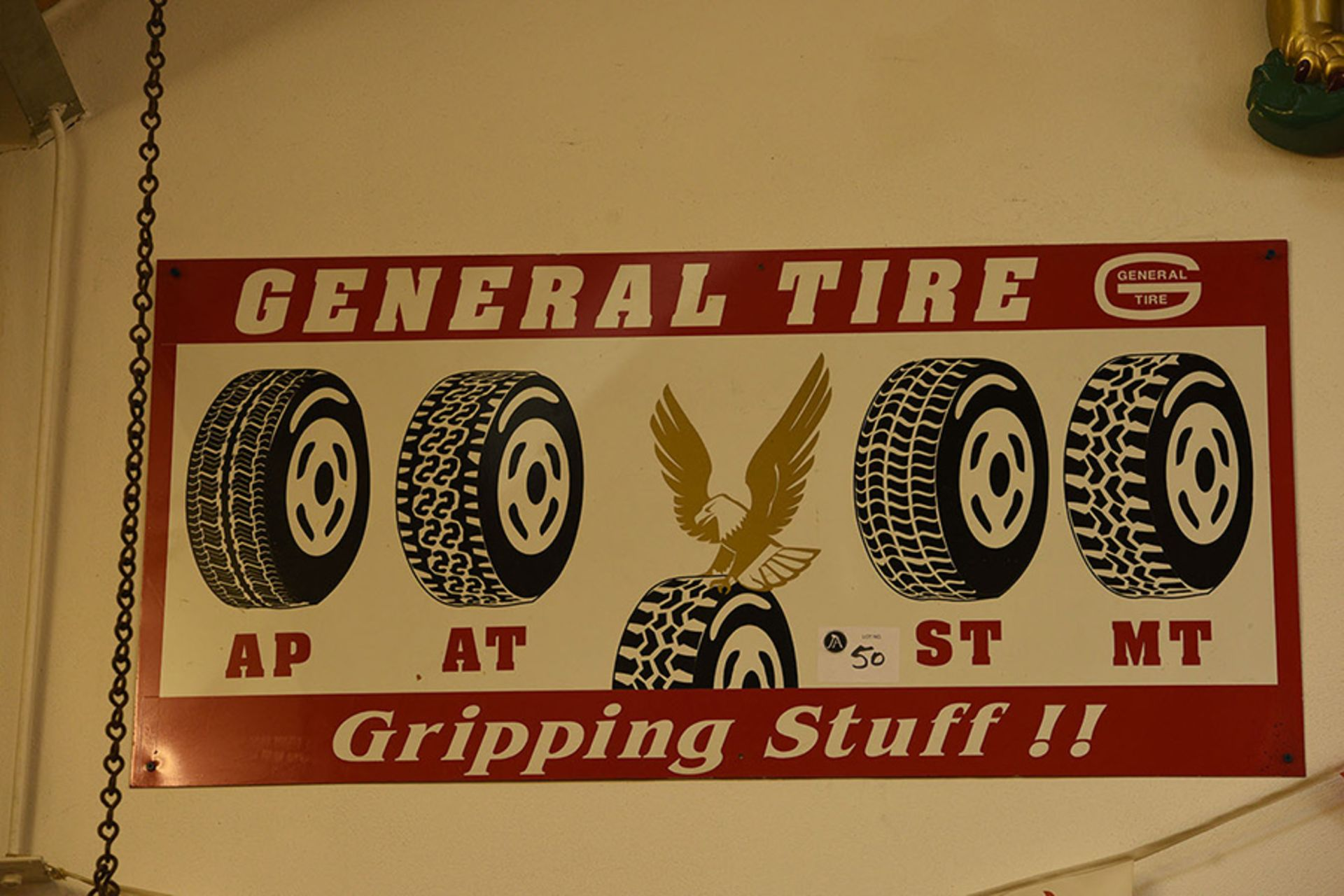 Lot 50 - General Tire Metal Wall Mounted Sign