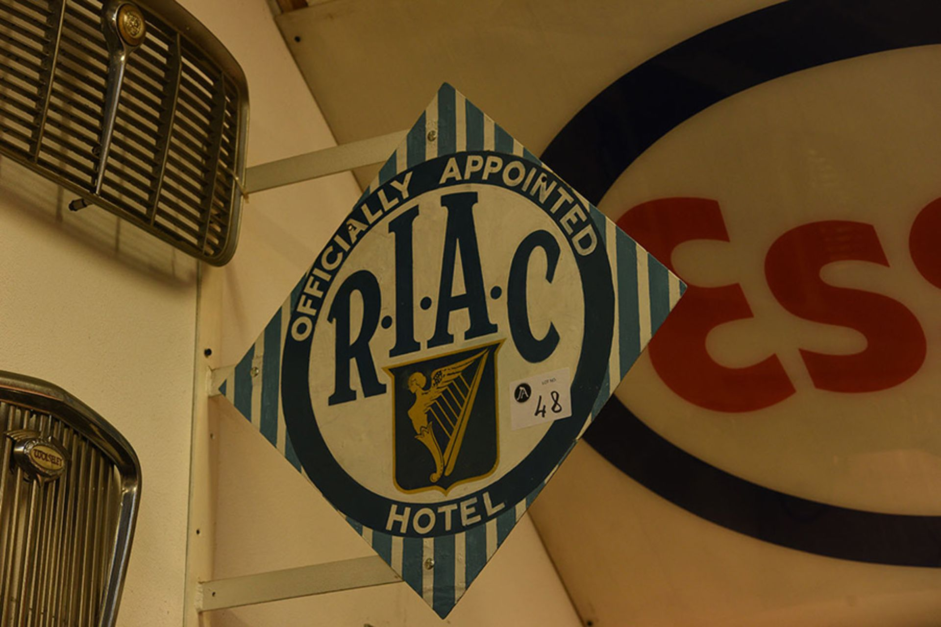 Lot 48 - Royal Irish Automobile Club Metal Double Sided Sign
