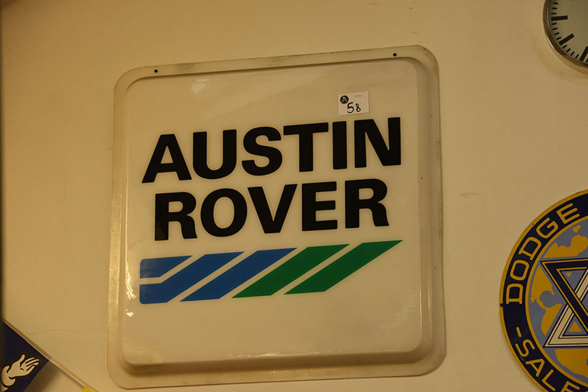 Lot 58 - Austin Rover Plastic Sign