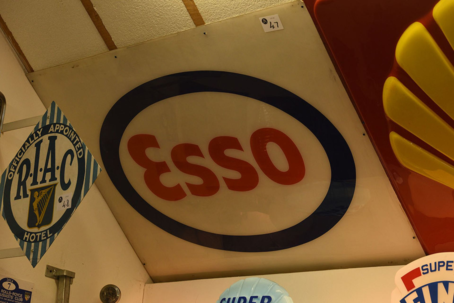 Lot 47 - Esso Wall Sign
