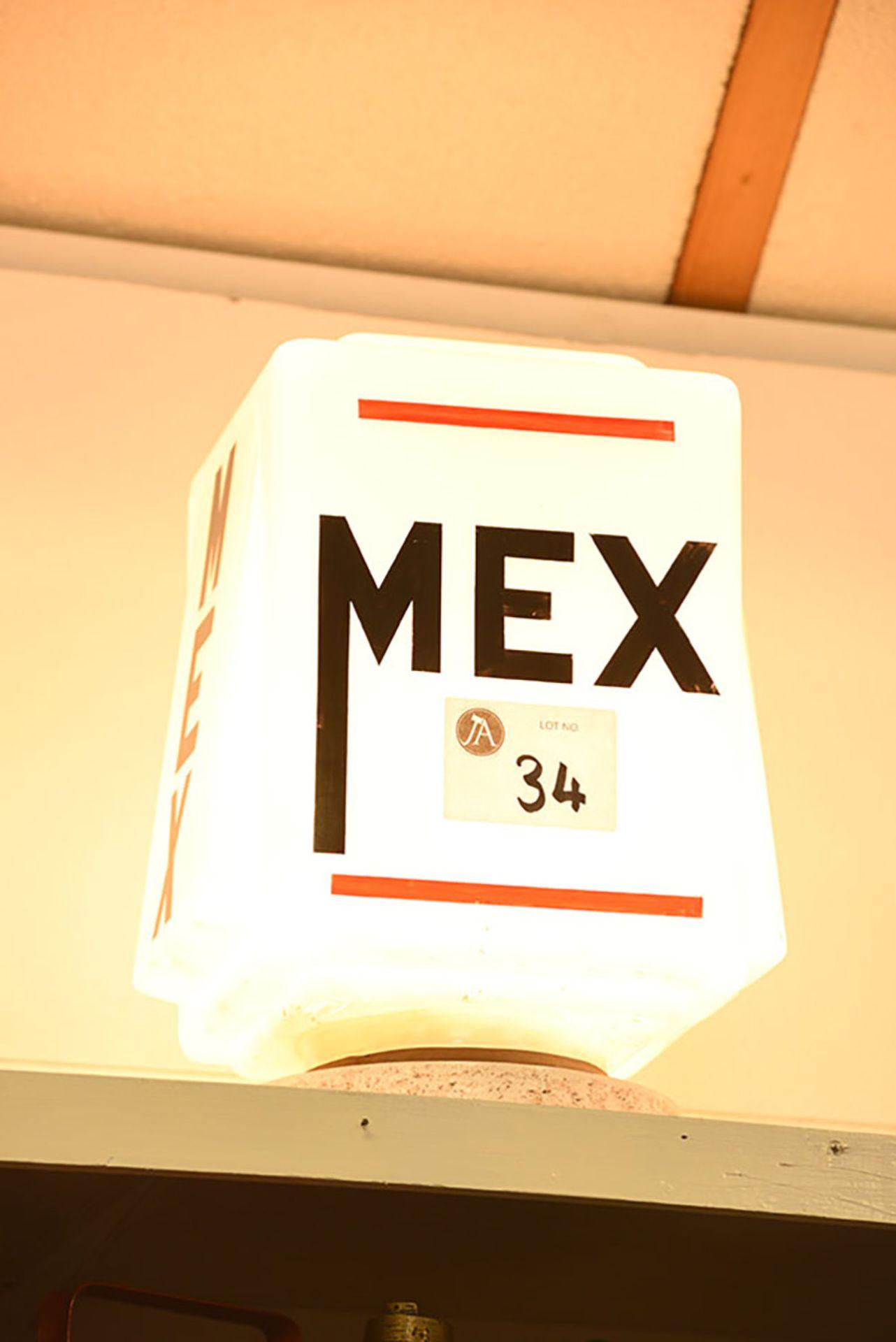Lot 34 - Mex Square Glass Globe