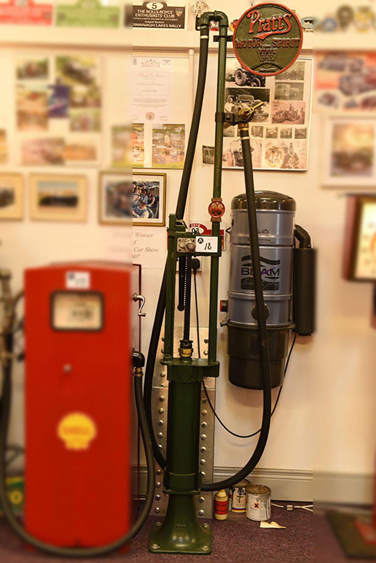 Lot 18 - Pratts Motor sport petrol pump