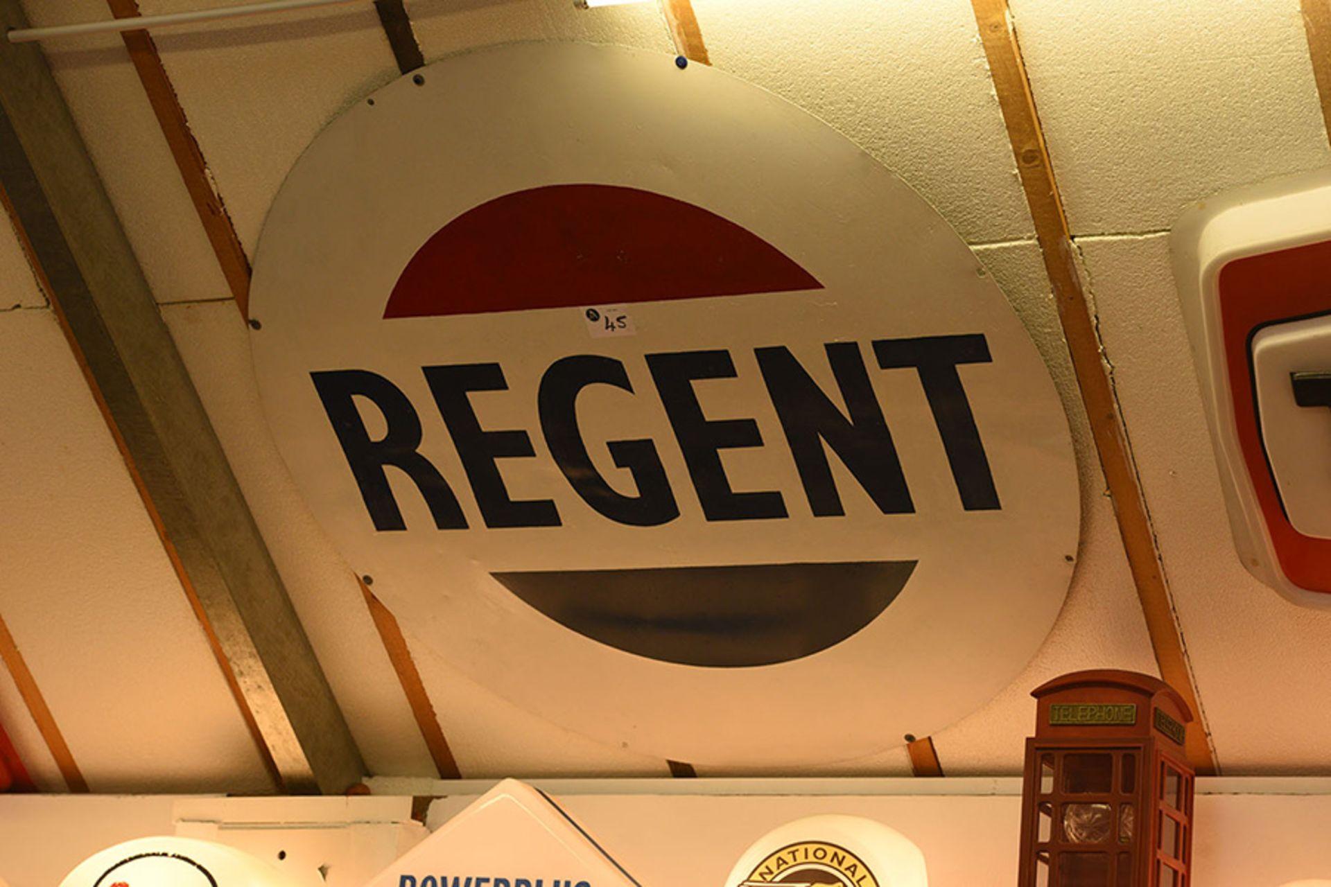 Lot 45 - Regent Metal Wall Sign