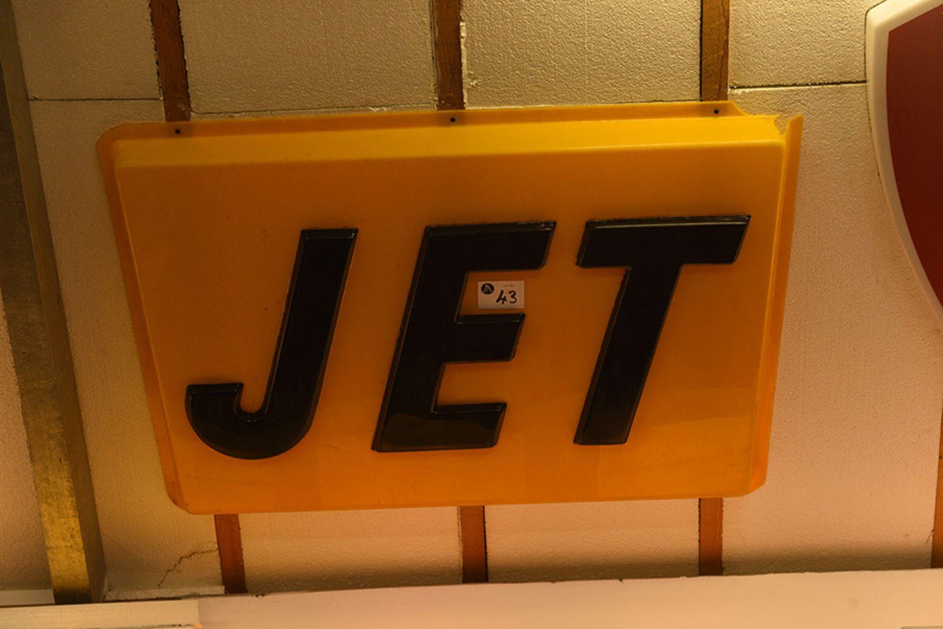 Lot 43 - Jet Plastic Wall Sign