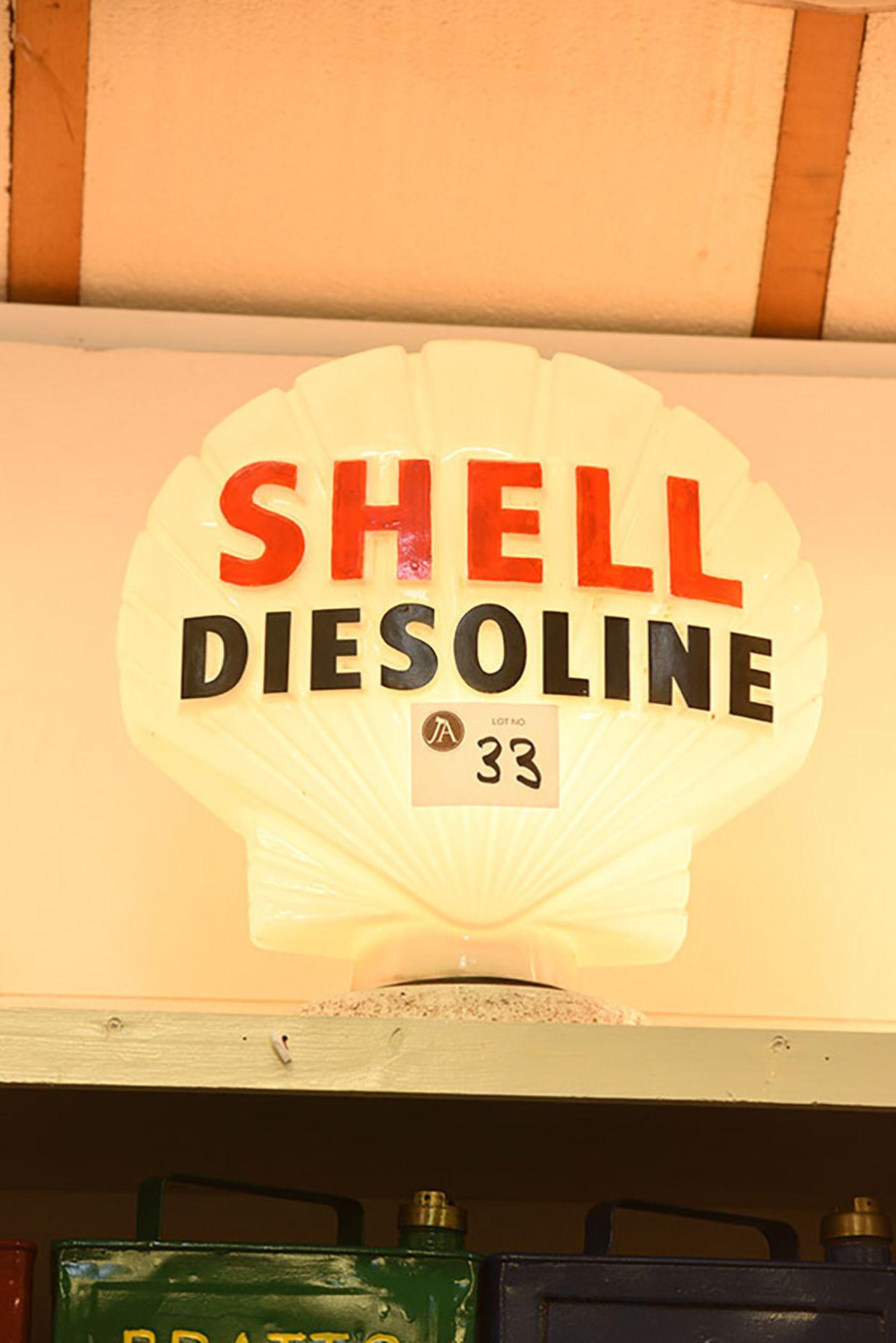 Lot 33 - Shell Diesoline Glass Globe