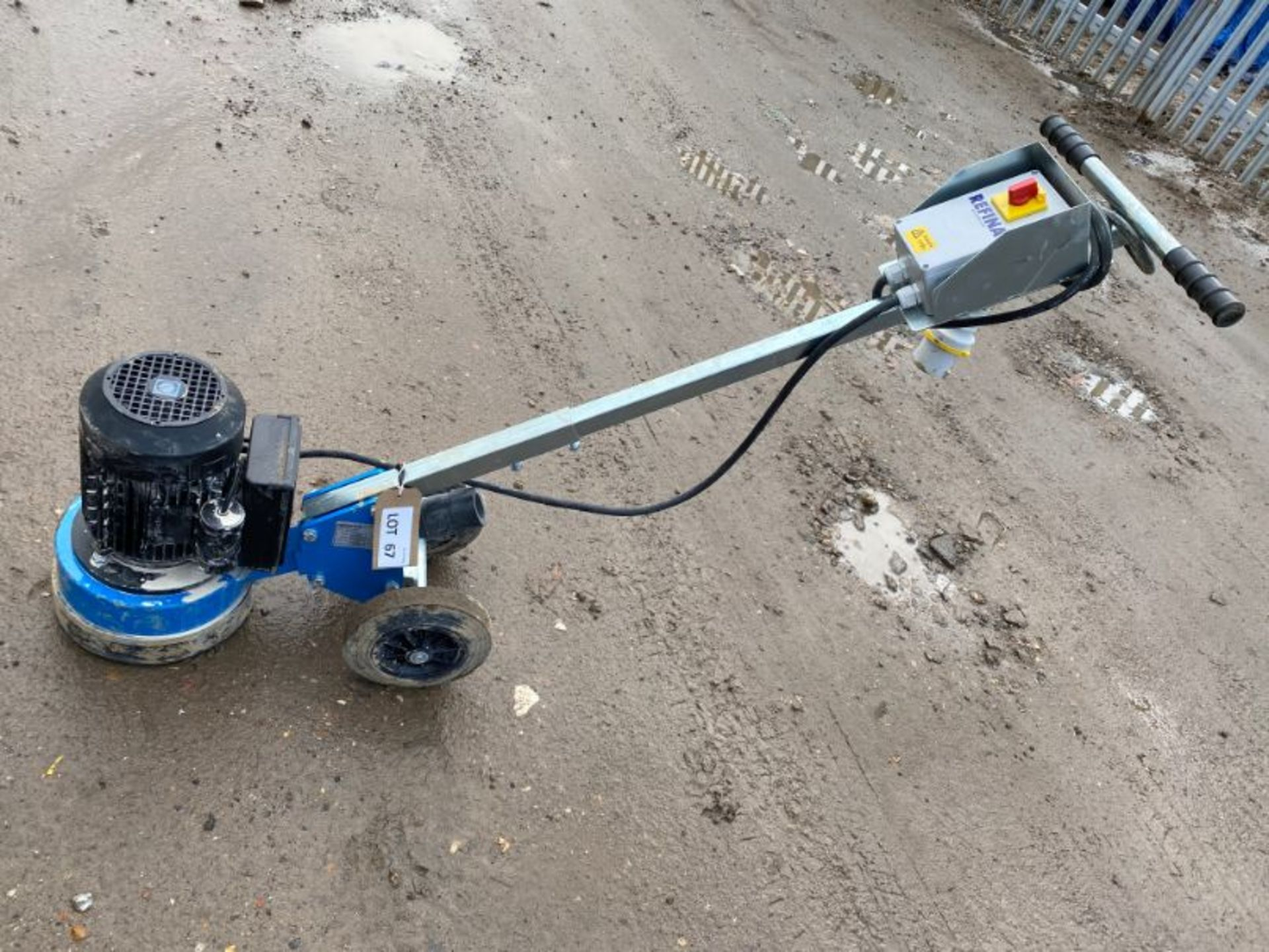 "Lot 67 - Refina PD23 9"" concrete polisher: serial no: 19182 (2019)"