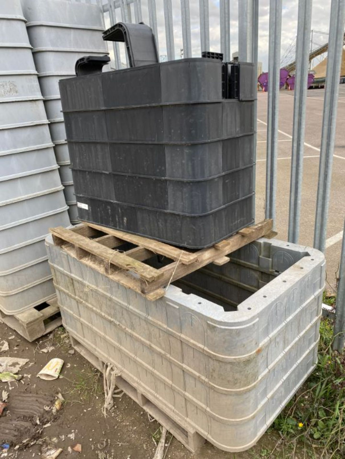 Lot 64 - Qty various PVC manhole cover/drain liners as lotted