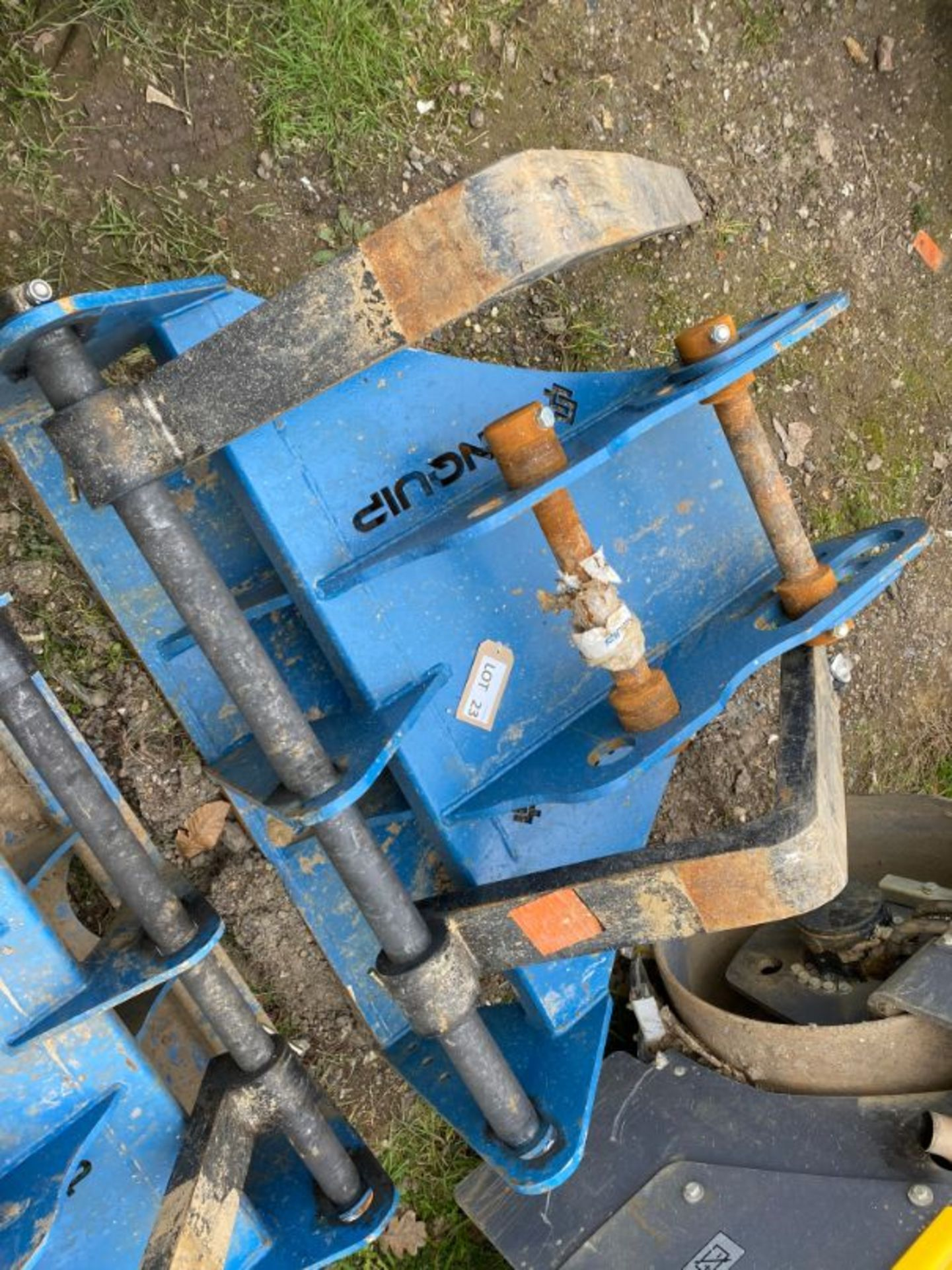 Lot 23 - Conquip 2-tonne SWL excavator mounted forklift attachment: 65 mm pin dia x 350 mm dipper width x 52
