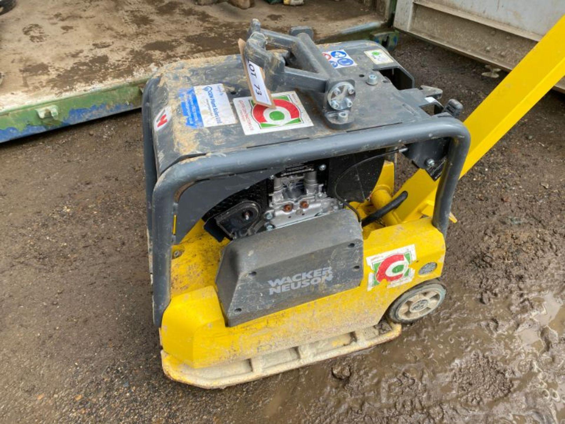 Lot 73 - Wacker Neuson Vibroplate DPU2540H reversible vibrating plate: serial no: 11139665 (2019): (del Feb-