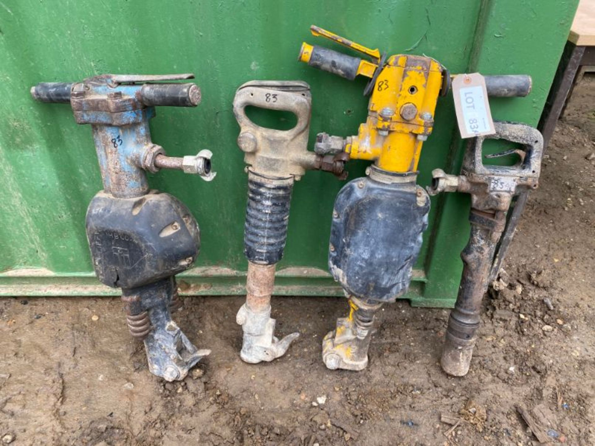 Lot 83 - Various pnuematic drills x 4, as lotted