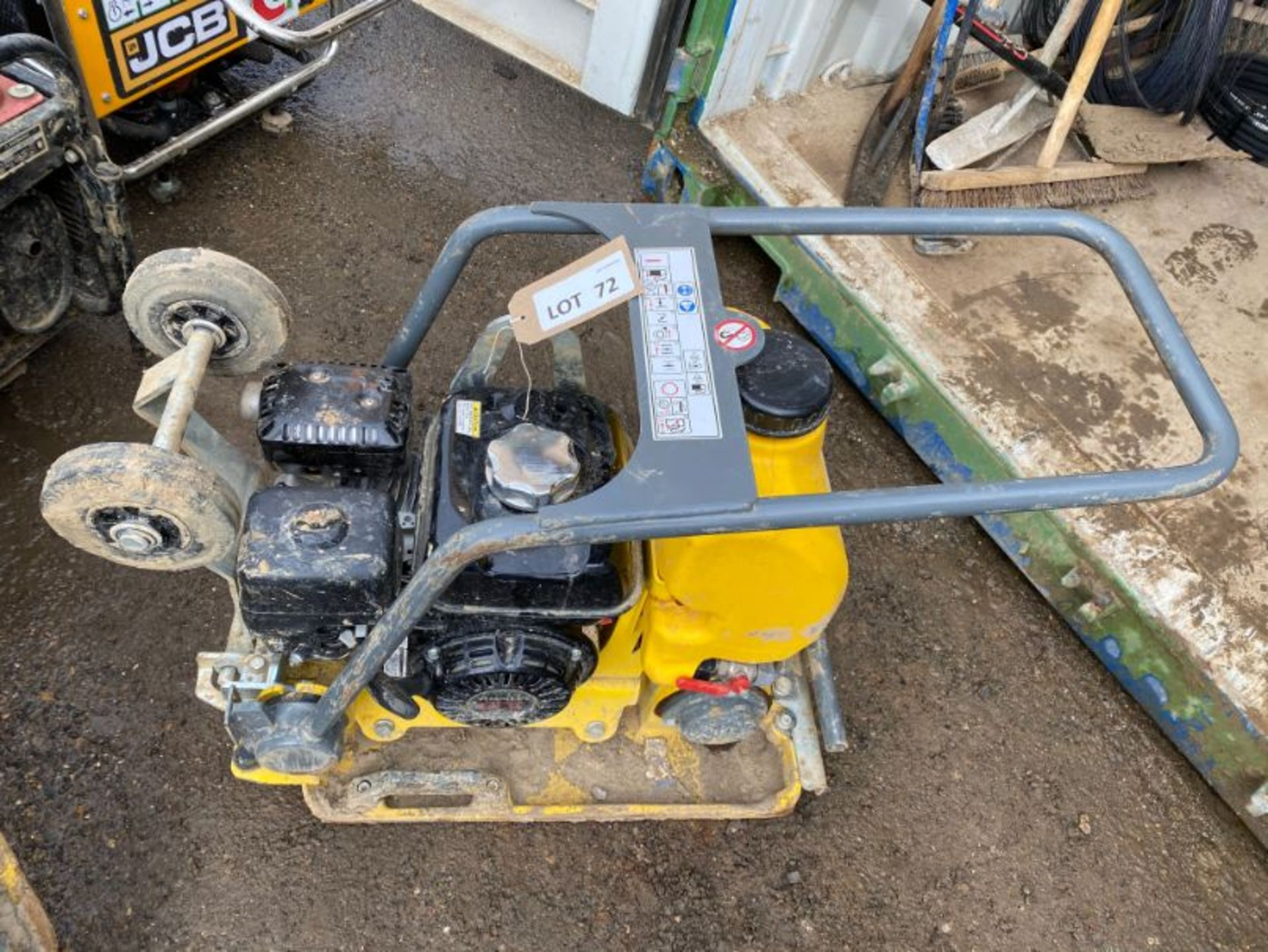 Lot 72 - Wacker Neuson Vibroplate VP1340AW vibrating plate: serial no: 11107604 (2019): (delivered Feb-20)