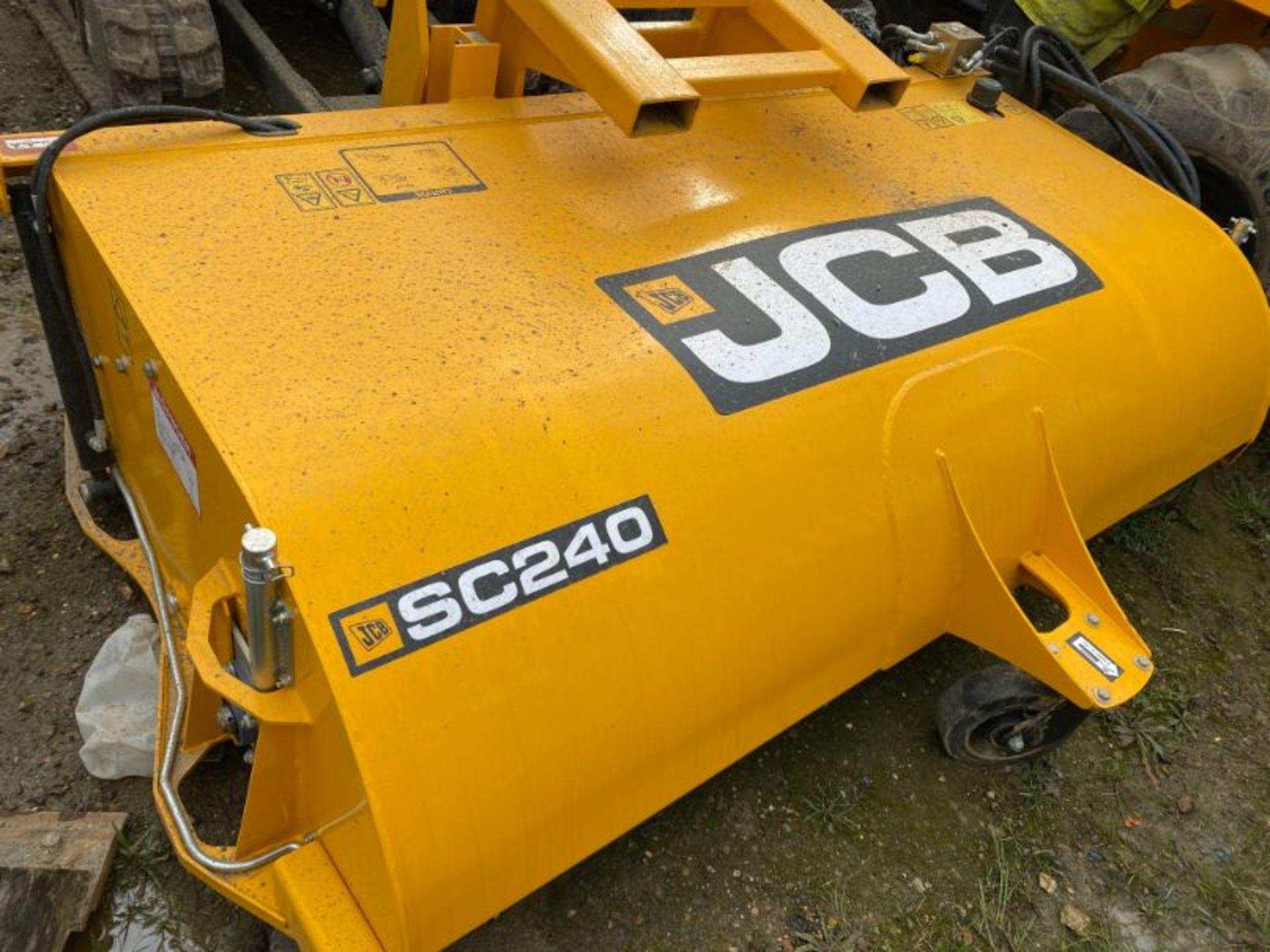 Lot 18 - JCB SC240 hydraulic sweeper/collector attachment: serial no: B0159635 (2019) - (delivered Feb-20)
