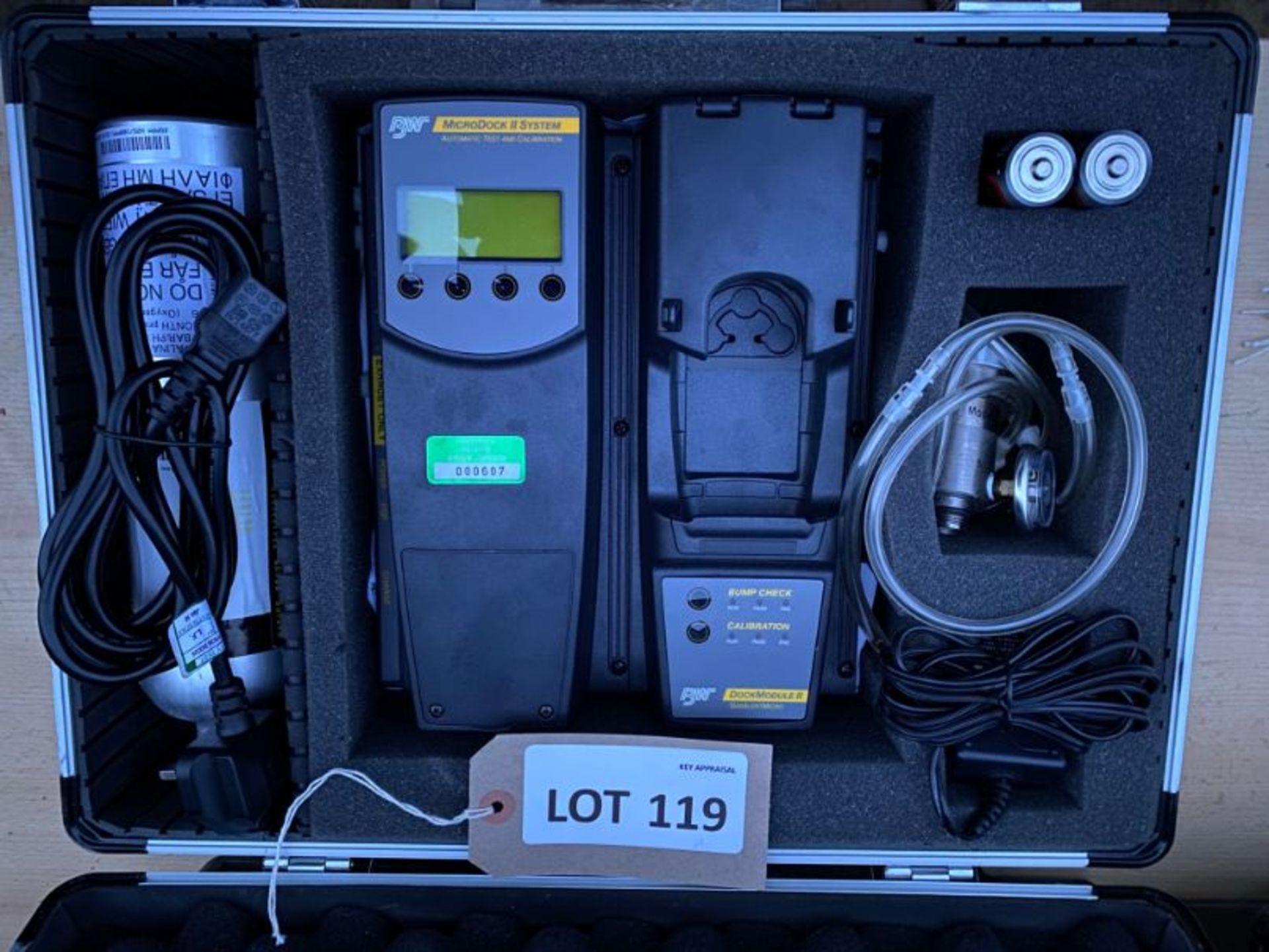Lot 119 - BW Microdock II gas testing & calibration station (gas alert micro unit missing)