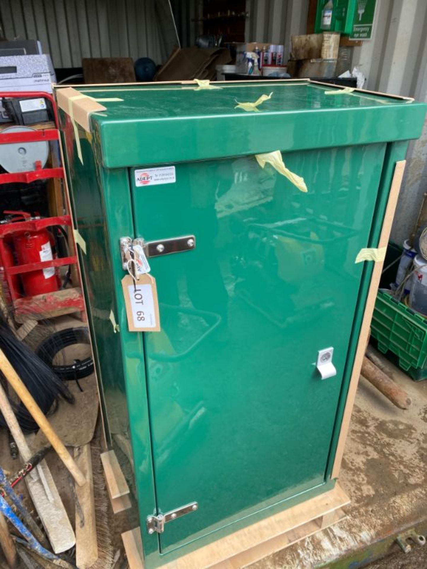 Lot 68 - Adept GRP lockable cabinet, 520 x 400 x 1200 mm (unused on delivery pallet)