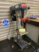 Ryobi RDP-5016S bench type pillar drill, serial no: 001908-04 (2004) -240v on stand