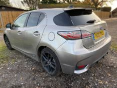 Lexus CT200H Sport 1.8 CVT plug in hybrid petrol 5-door hatchback, first reg: 23.9.2017, cherished