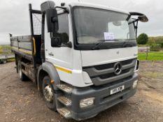 Mercedes-Benz Atego Blue EC5 18-tonne diesel tipper truck, Date of Registration: 30.6.2011,