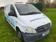 Mercedes-Benz Vito 639/4 compact panel van, Date of Registration, 31.10.2011, Registration No: