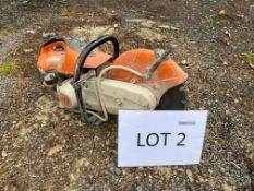 Stihl petrol cutter (no plate details available)