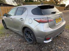 Lexus CT200H Sport 1.8 CVT plug in hybrid petrol 5-door hatchback, date of reg: 23.9.17, reg no: H20
