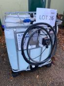 Adblue IBC with dispenser pump