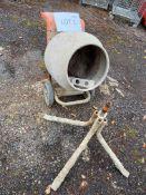 Altrad Belle M54B Minimix 150 petrol concrete mixer, Serial No: 981446M54B
