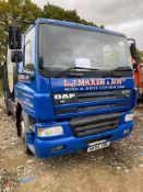 DAF FA CF65.220M 660 19-tonne, special purpose road surfacing diesel tipper truck, Date of