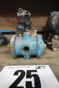"Small Pump and Approximately 1"" Valve"