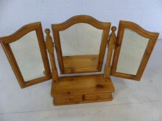 Pine dressing table/toilet mirror