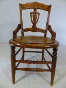 Edwardian mahogany side chair